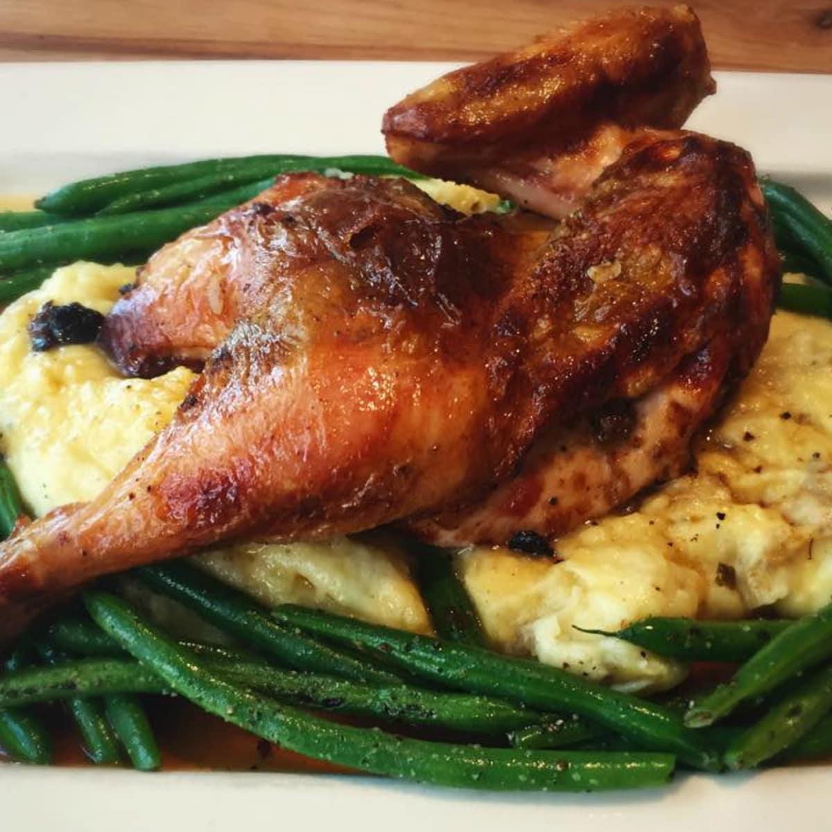 Dai Due Austin restaurant roast chicken dish