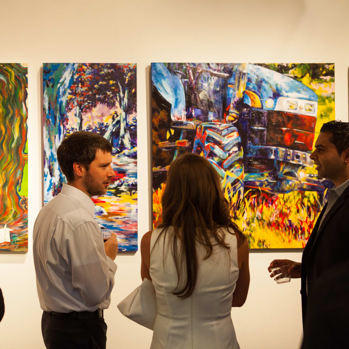 News, Shelby, Muir Gallery mural party, July 2015,  Eric Anderson