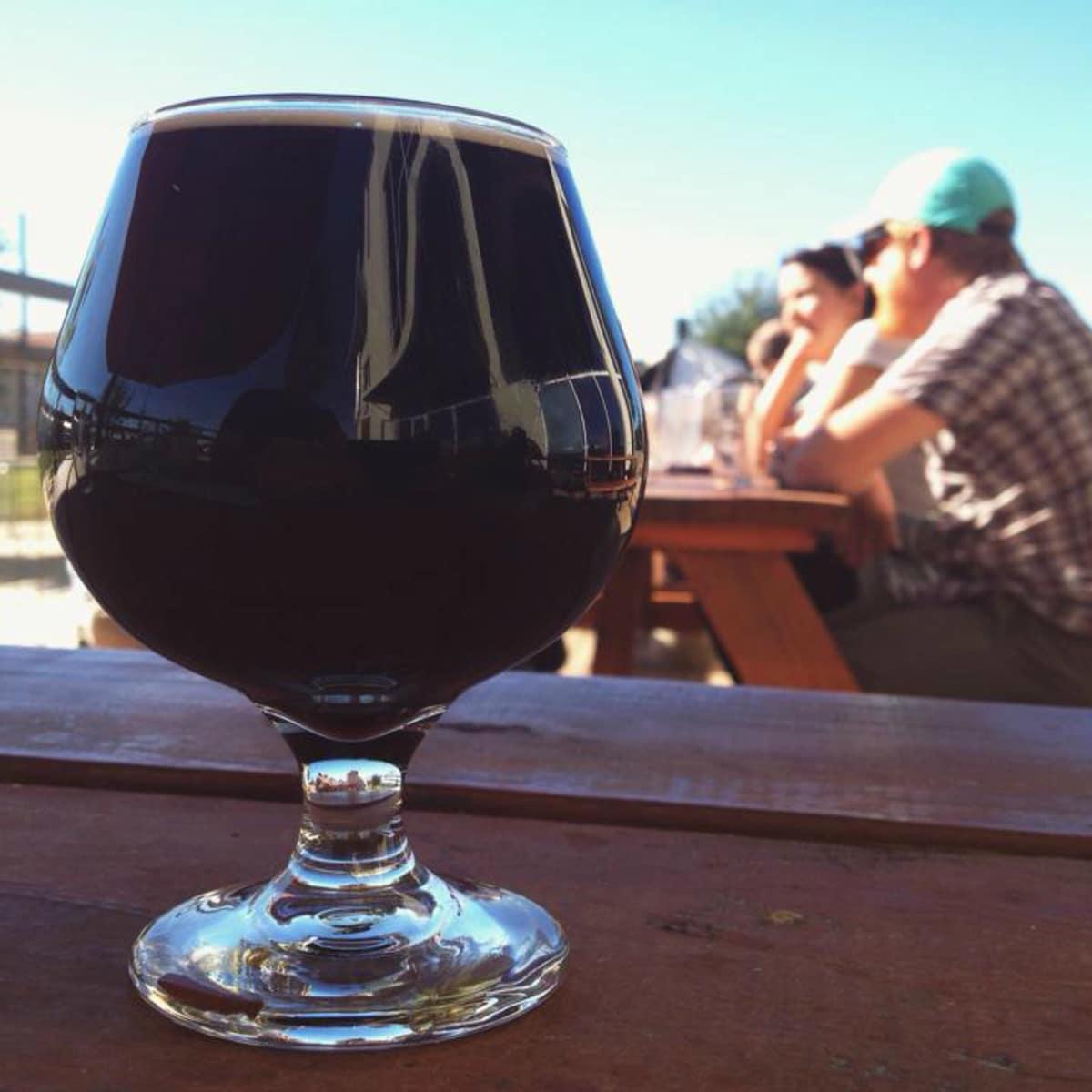 Black Star Co-op brewery pub Austin restaurant beer patio 2015