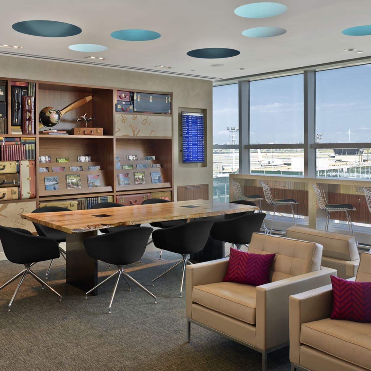 American Express Centurion Lounge LaGuardia work area