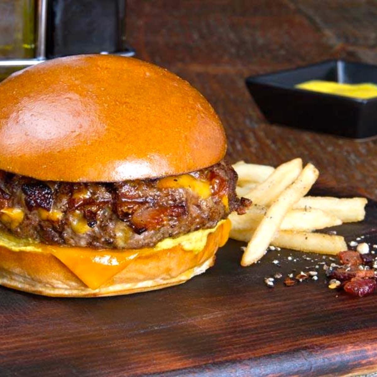 Houston, George Foreman Butcher Shop, July 2015, burger