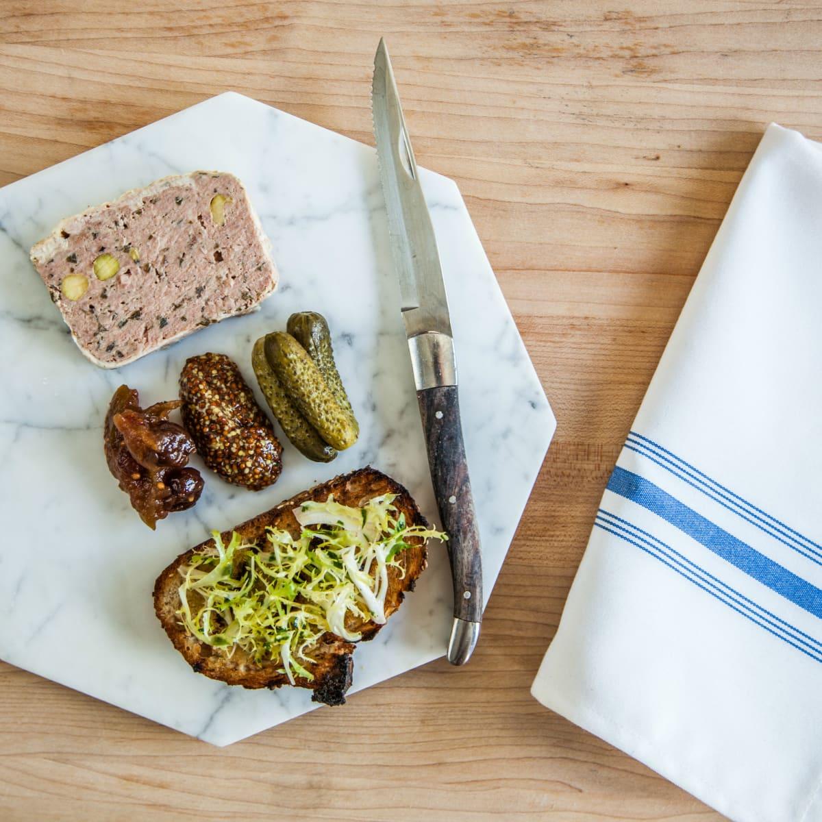 Goodall's Kitchen & Bar Austin restaurant Hotel Ella deviled toast dish plate 2015