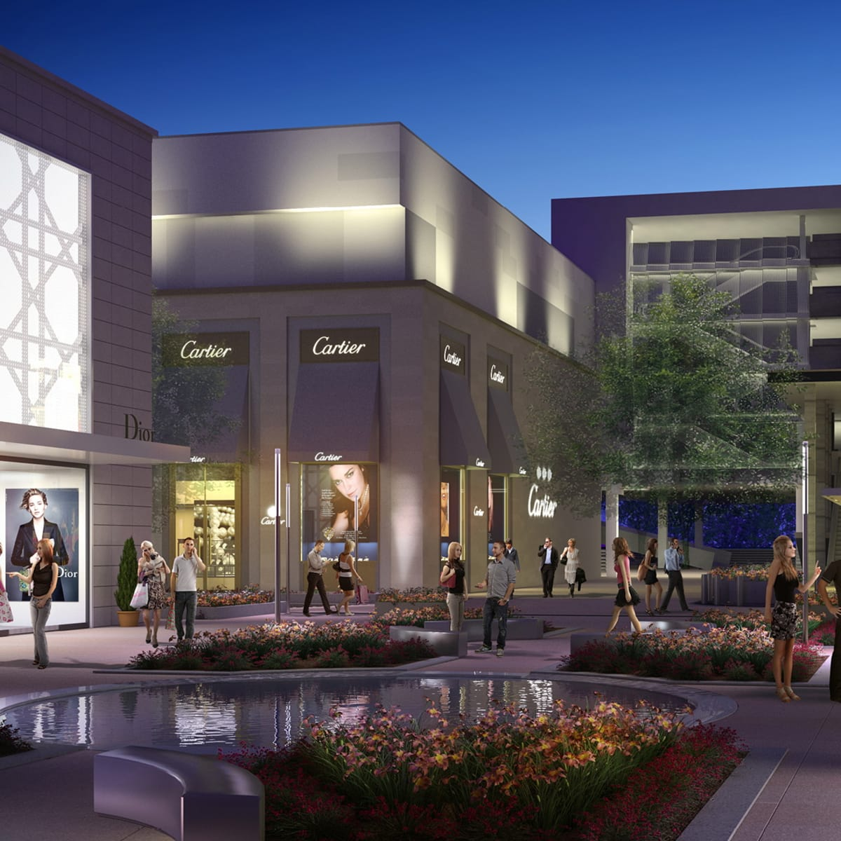Dior and Cartier rendering at River Oaks District