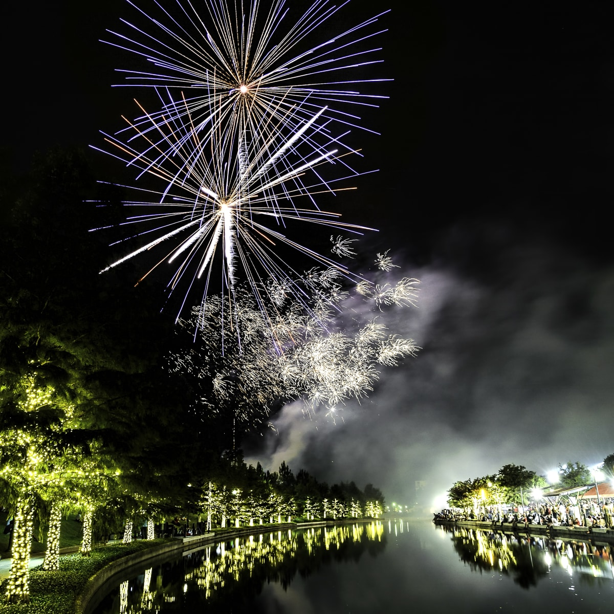 The Woodlands fireworks Fourth of July