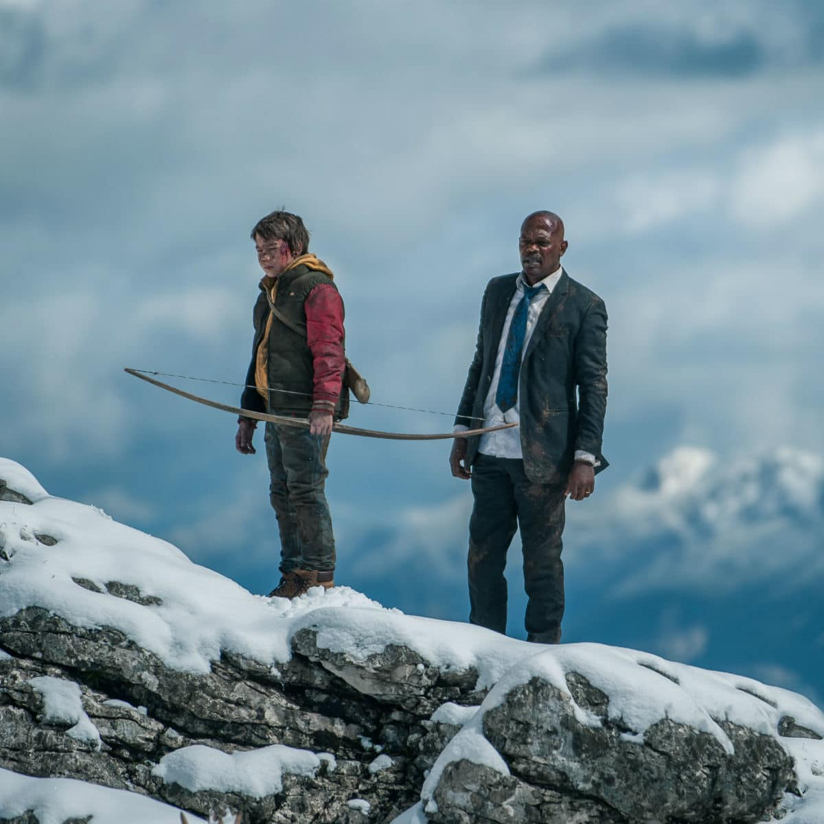 Onni Tommila and Samuel L. Jackson in Big Game