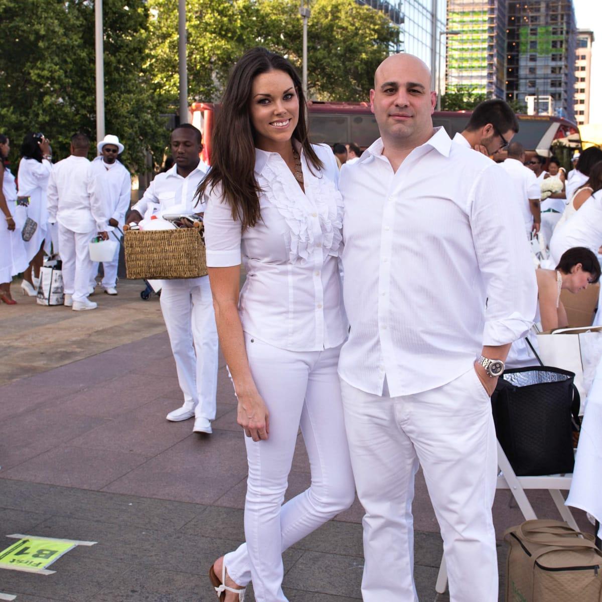Houston, Diner en Blanc, June 2015, Amanda and Stan Abiassi