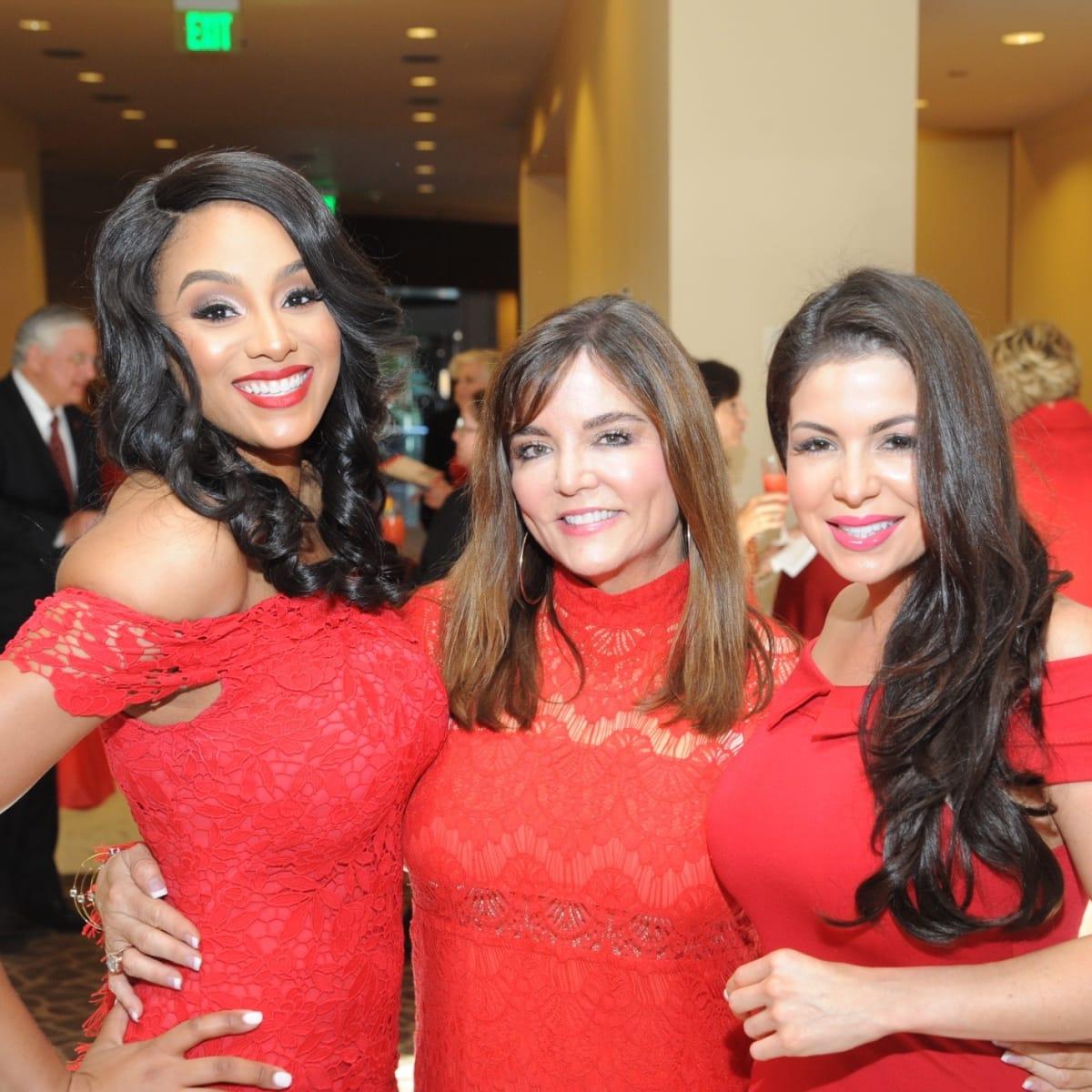 Go Red for Women luncheon Ashley Peterson, Beth Cassidy, Crystal Saldivar