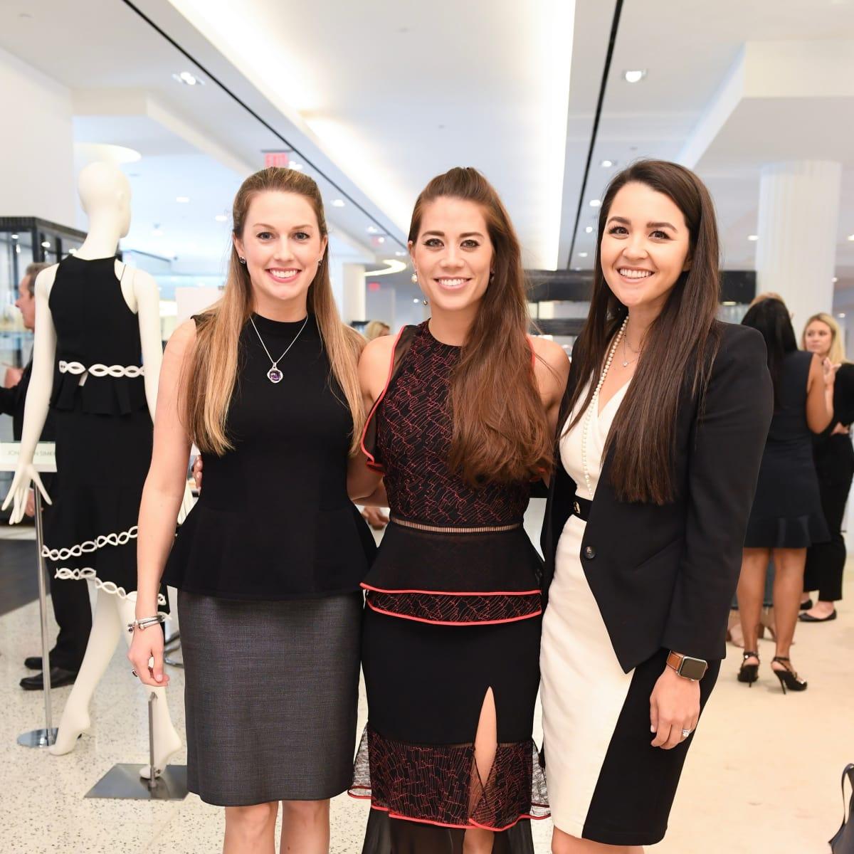 Ashley Sloan, Elizabeth Chen Douglass, and Sara Ashley Moreno at Jonathan Simkhai fashion show at Tootsies
