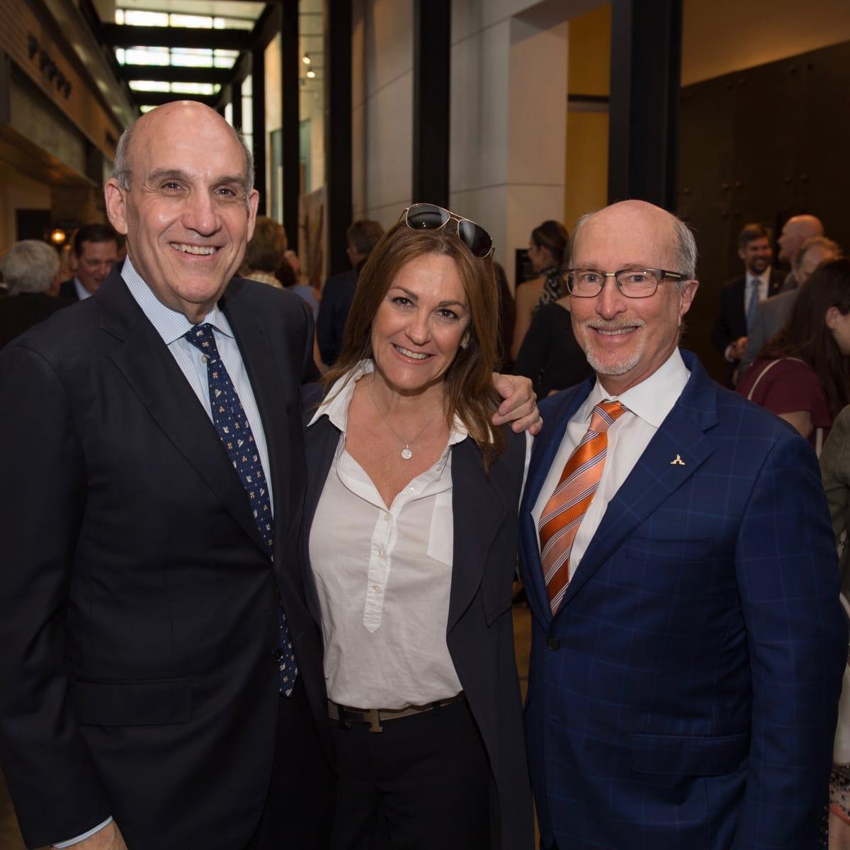Holocaust Museum Houston Unveiling Event: Benjamin Warren, Tali Blumrosgn, Mark Mucasey