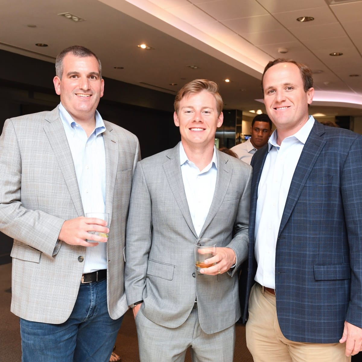 Matt Hibbets, Austin Alvis, Scott Thelander Guy's Night Out party at IW Marks Jewelers