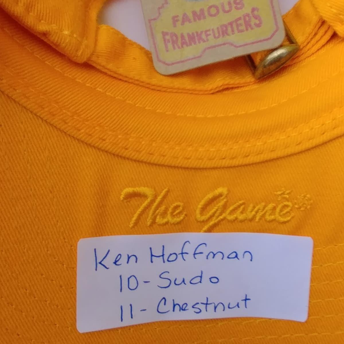 Nathan's Famous Hot Dog Eating Contest 2017 Ken Hoffman cap