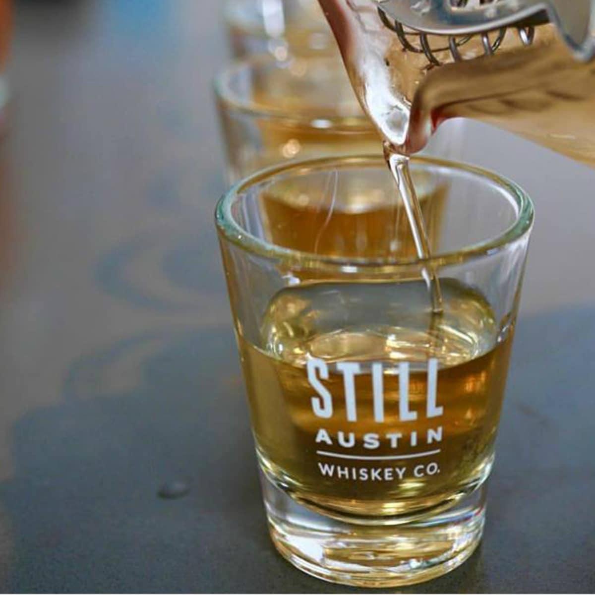 Still Austin Whiskey being poured