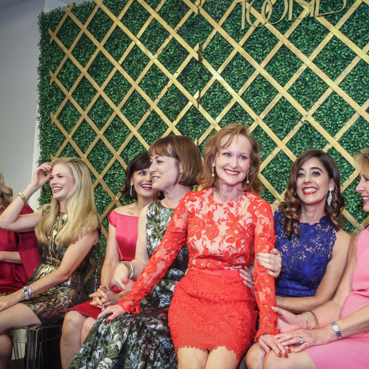 Women of Distinction announcement party Carol Sawyer in center