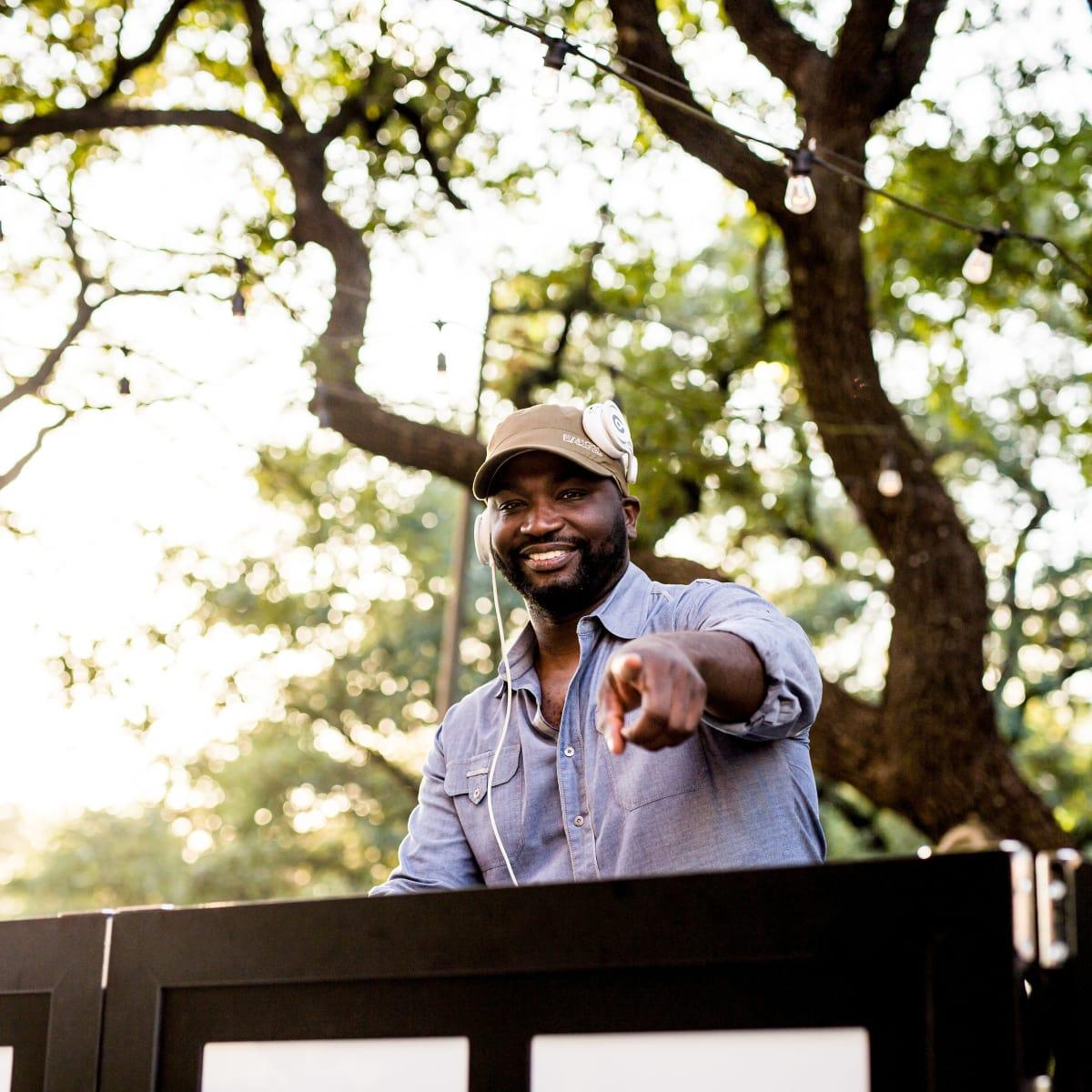 Houston, SportsMap launch party, October 2017, DJ Senega