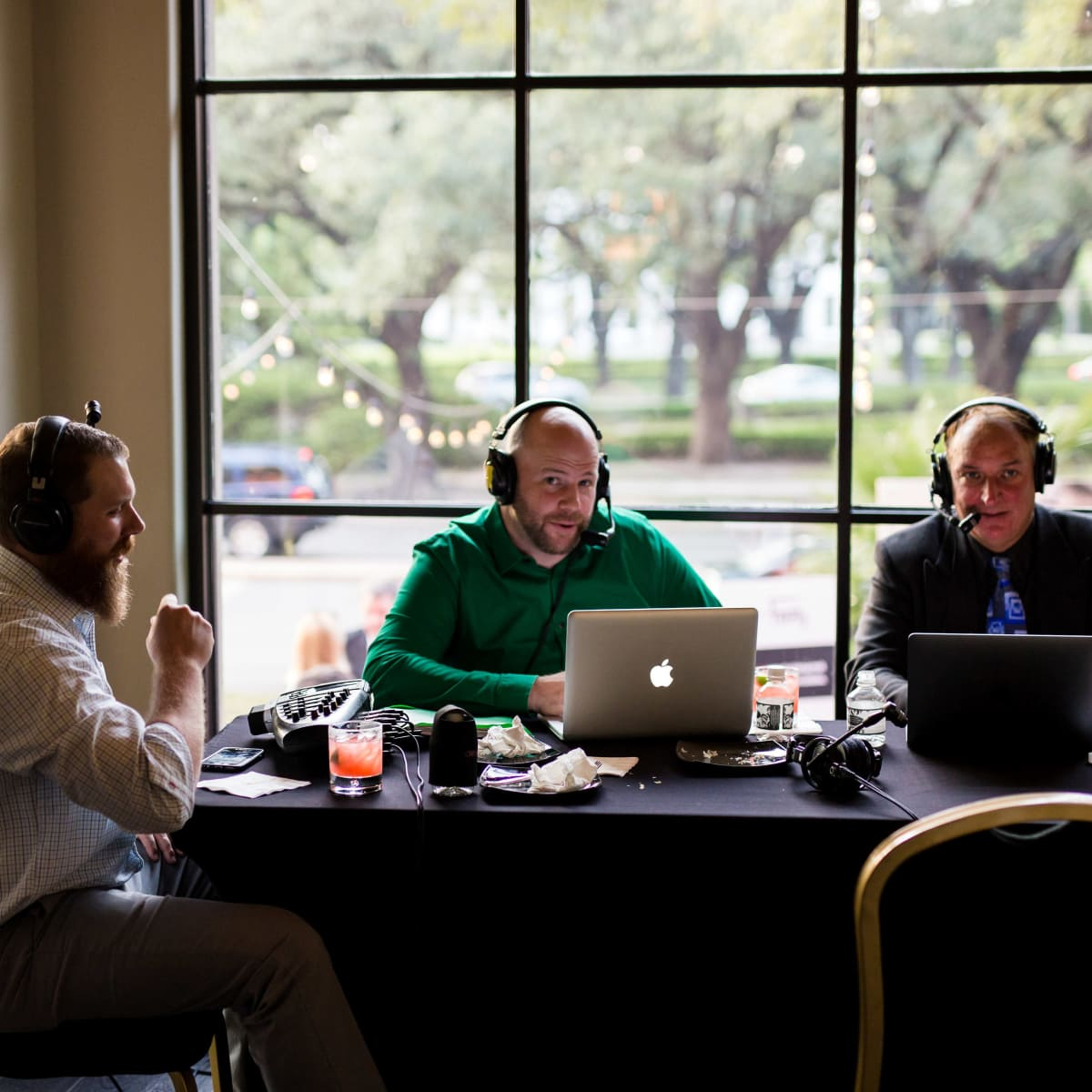 Houston, SportsMap launch party, October 2017, ESPN 97.5 sports reporters