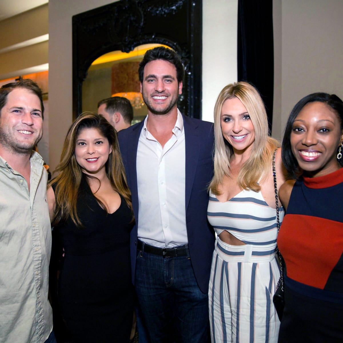 Houston, SportsMap launch party, October 2017, Nick Scurfield, Marcy de Luna, Lane Craft, Chita Craft, Brittaney Wilmore