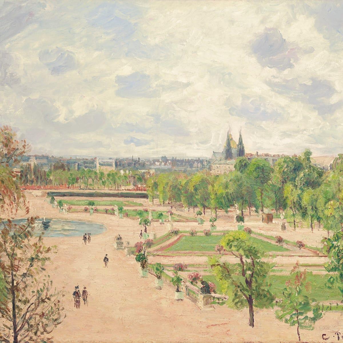 Pisarro_Tuileries Garden, Gray Morning