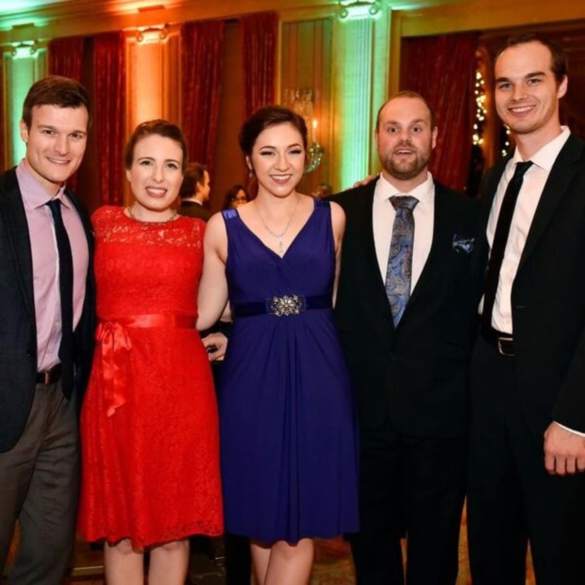 Jonathan Blalock, Bronwyn White, Bridget Cappel, Josh Friend, Sam Filson Parkinson, FW Opera, Dinner with the Stars
