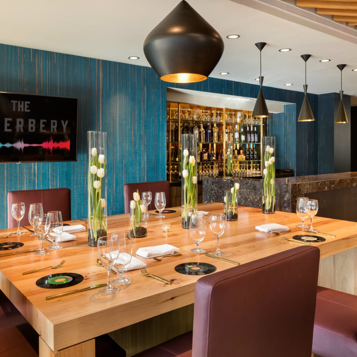 The Reverbery dining area