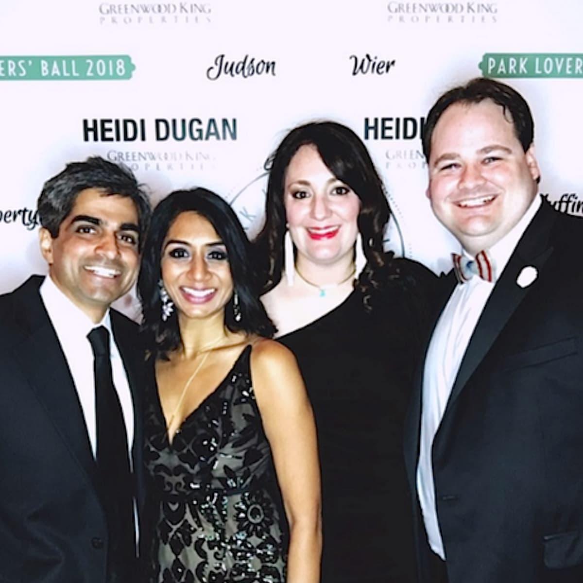 Houston, West University Park Lovers' Ball, February 2018, Vikas Shah, Prina Shah, Mitra Woody, Josh Woody