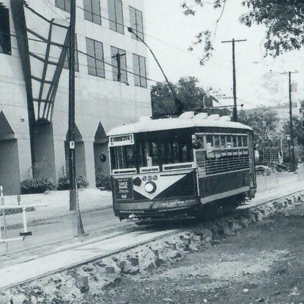 Historical photo of McKinney Avenue Trolley