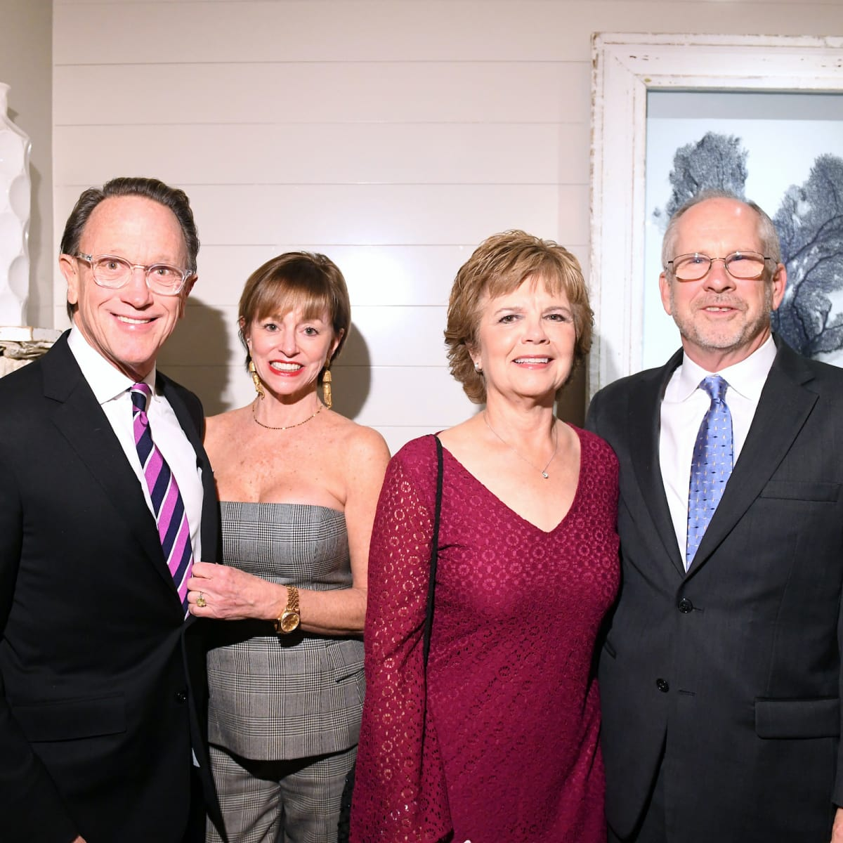 Houston, ZaZa Memorial City grand opening, February 2018, Charlie Givens, Laurie Givens, Becky Dykes, Tim Dykes