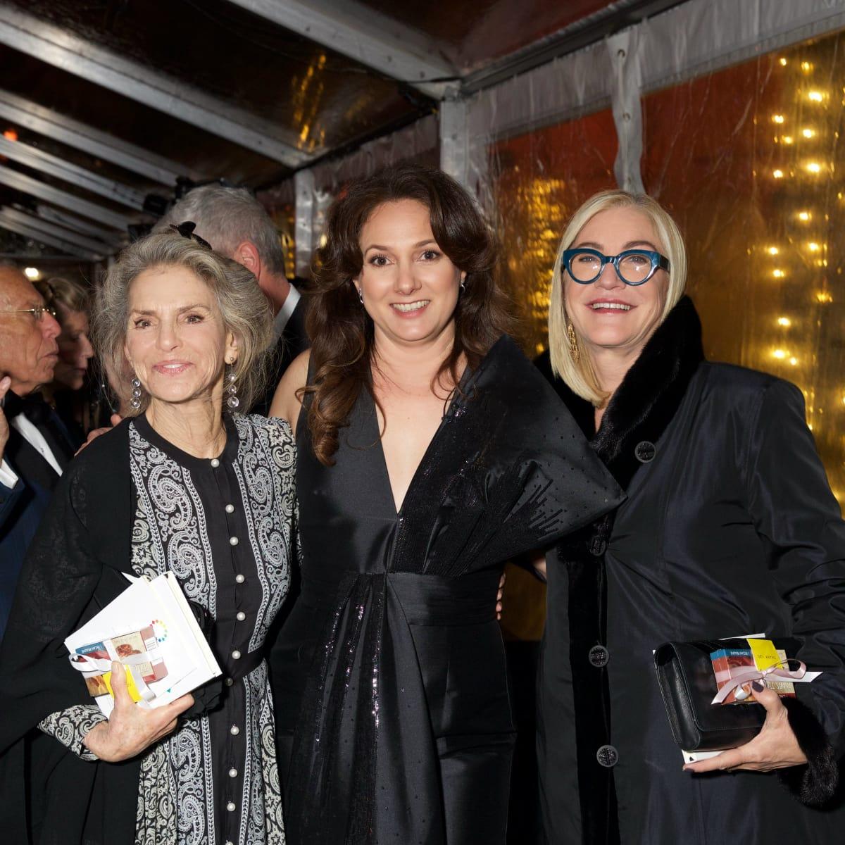 Dorothy Lichtenstein, Simone Wacha, Suzanne Deal Booth Ellsworth Kelly gala