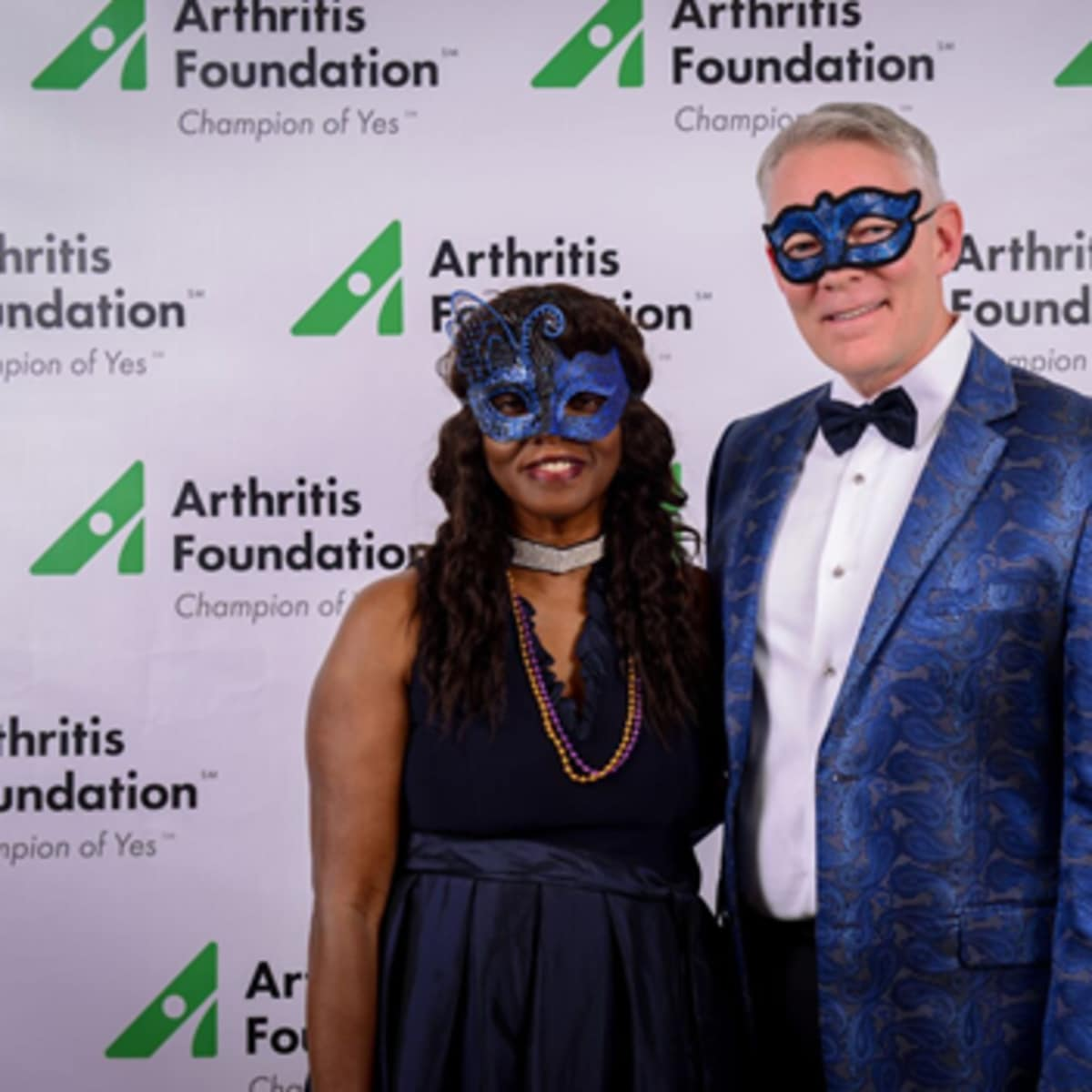 Char Maffia, Al James, Arthritis Foundation Mardi Gras Ball