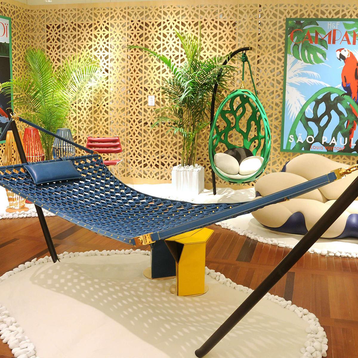 Louis Vutton's Objets Nomades hammock interior