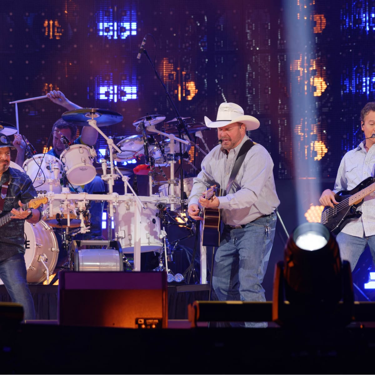 Garth Brooks opening night RodeoHouston band shot