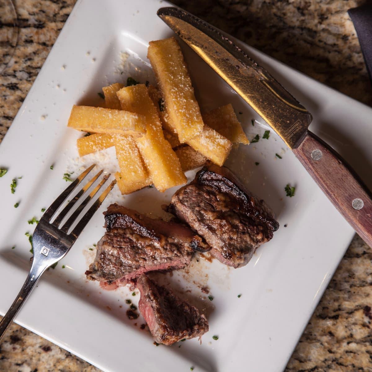 Chauma Gaucha happy hour garlic beef