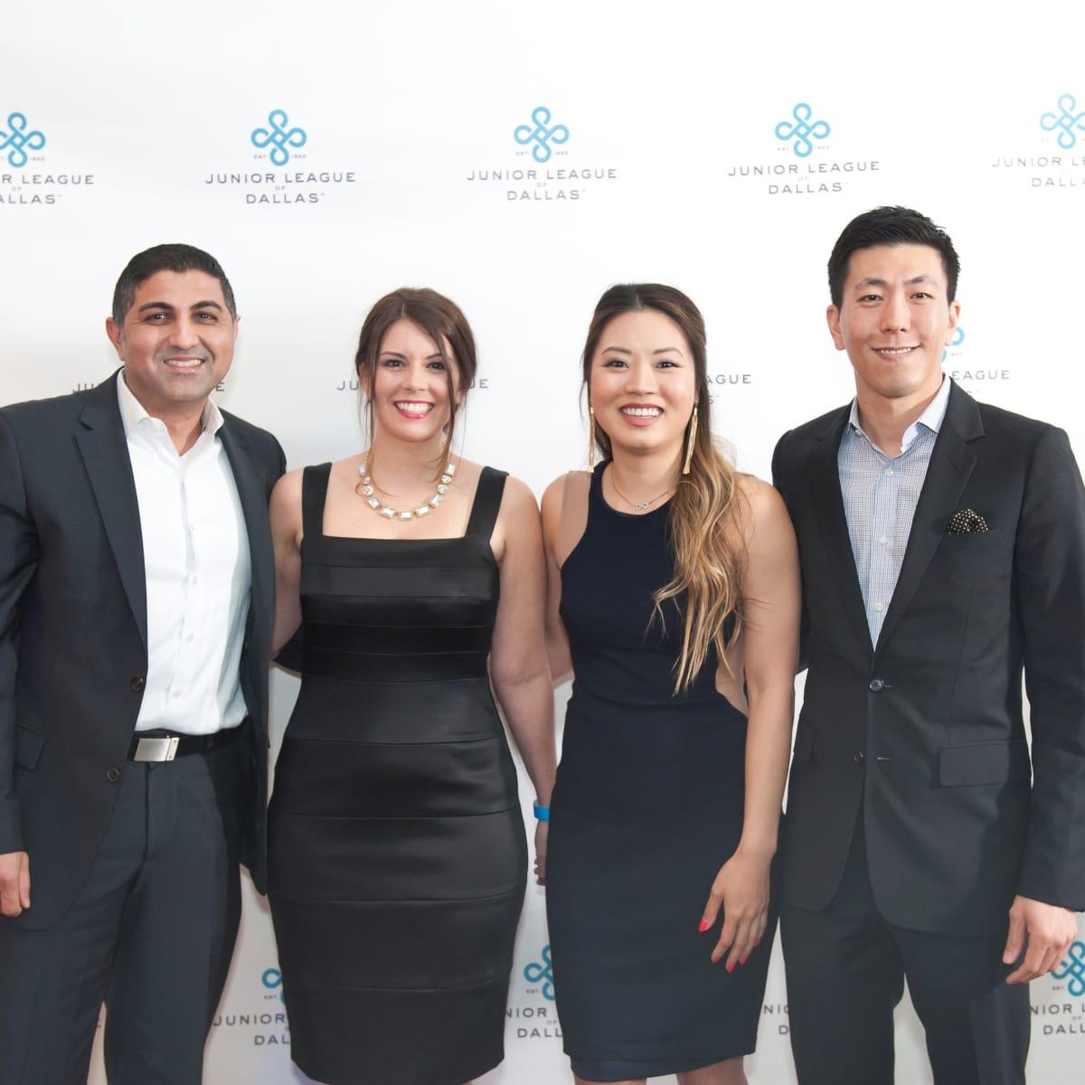Junior League Viva Big D party 2018, Kevan Chughati, Melanie O'Neil, Melissa Luong and Joseph Kim