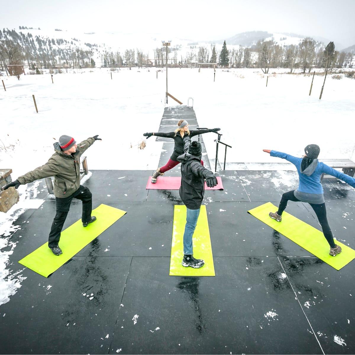 Hoffman - travel - snow yoga- Montana Ranch at Rock Creek