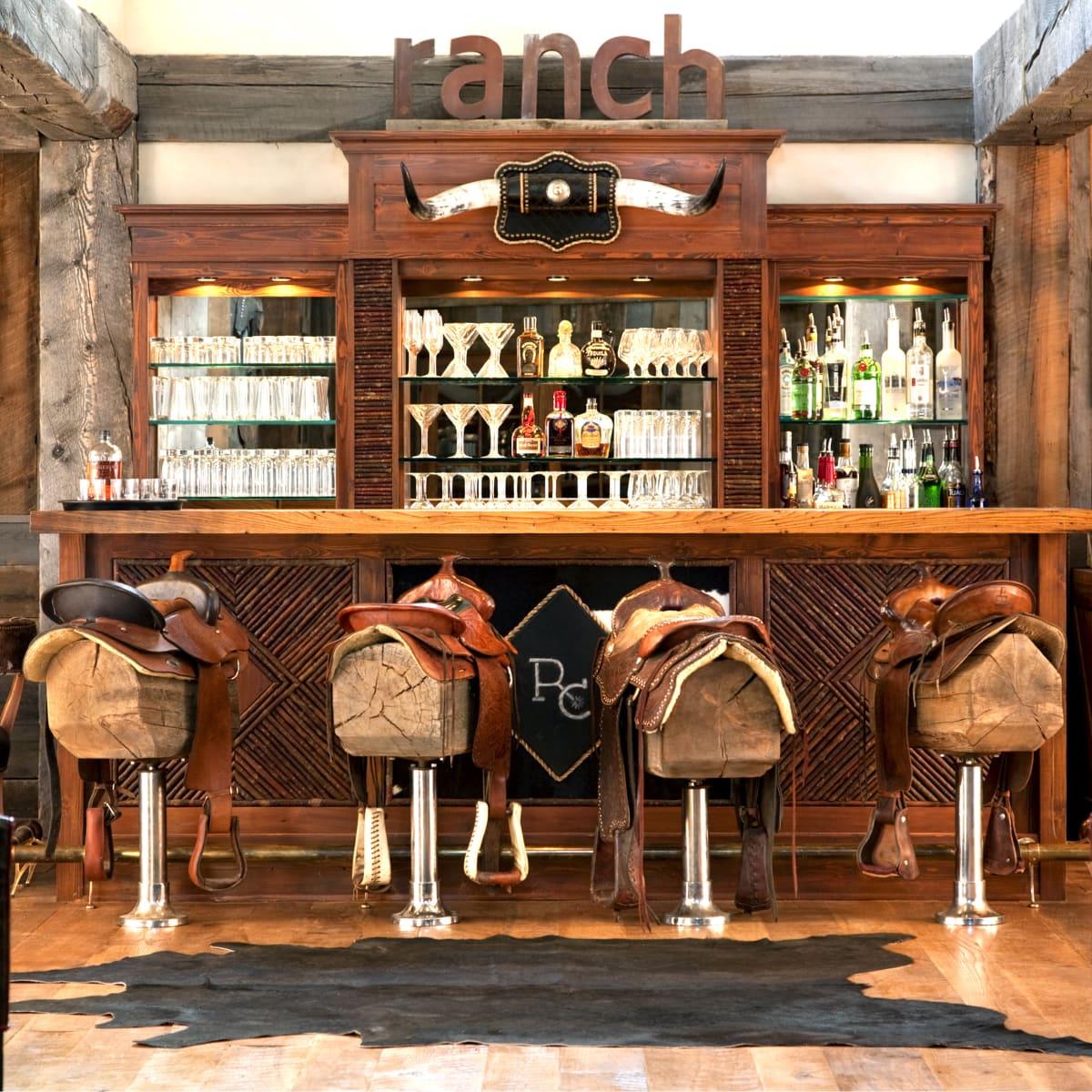 Hoffman - travel - bar saloon saddles Montana Ranch at Rock Creek