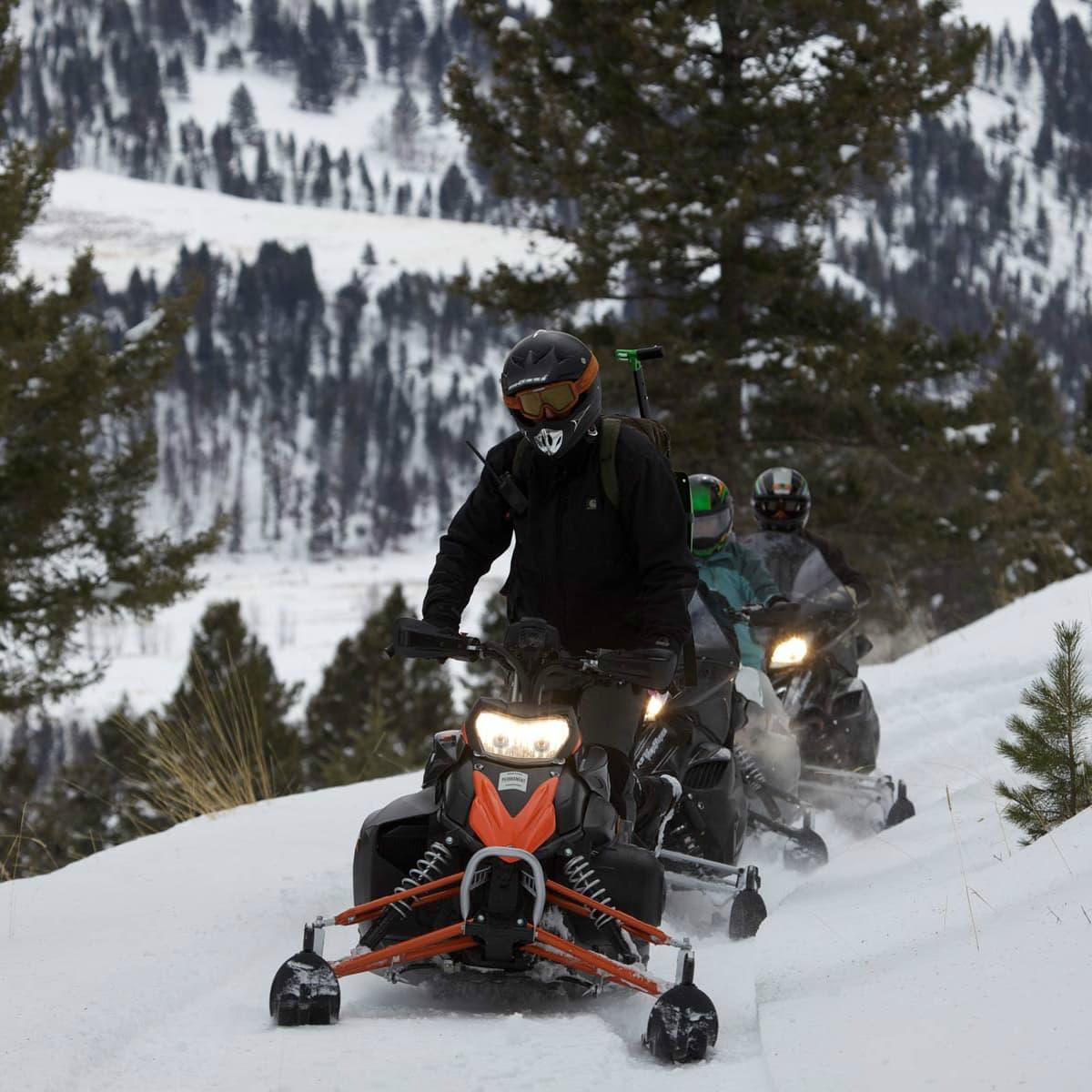 Hoffman - travel - snow wheeler- Montana Ranch at Rock Creek