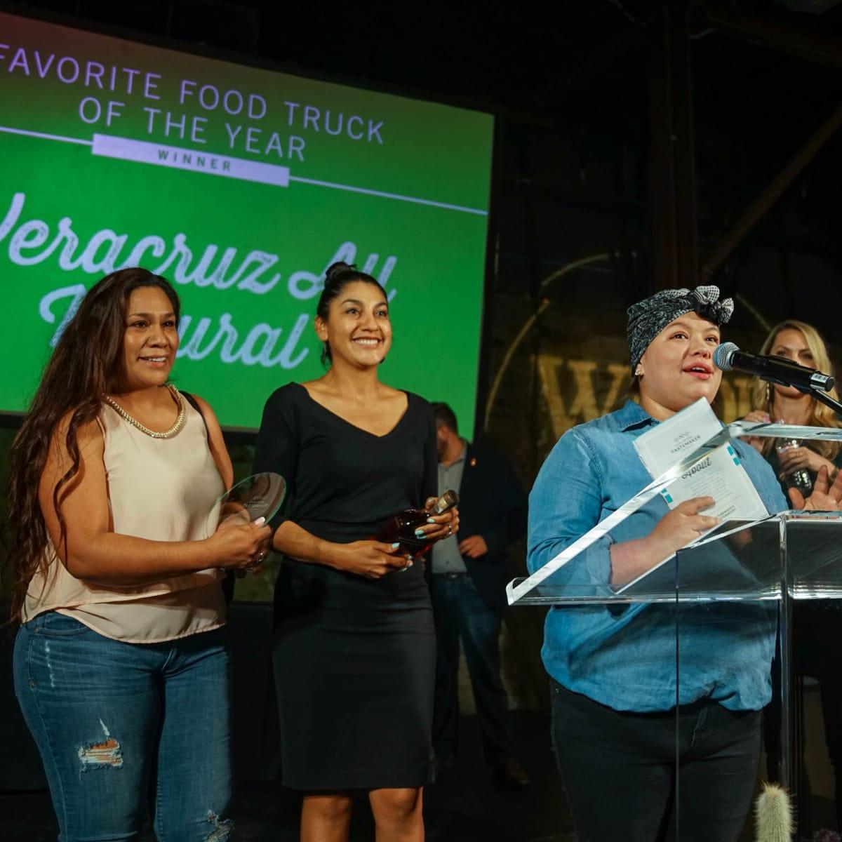 CultureMap Austin 2018 Tastemaker Awards at Fair Market Favorite Food Truck of the Year Veracruz All Natural