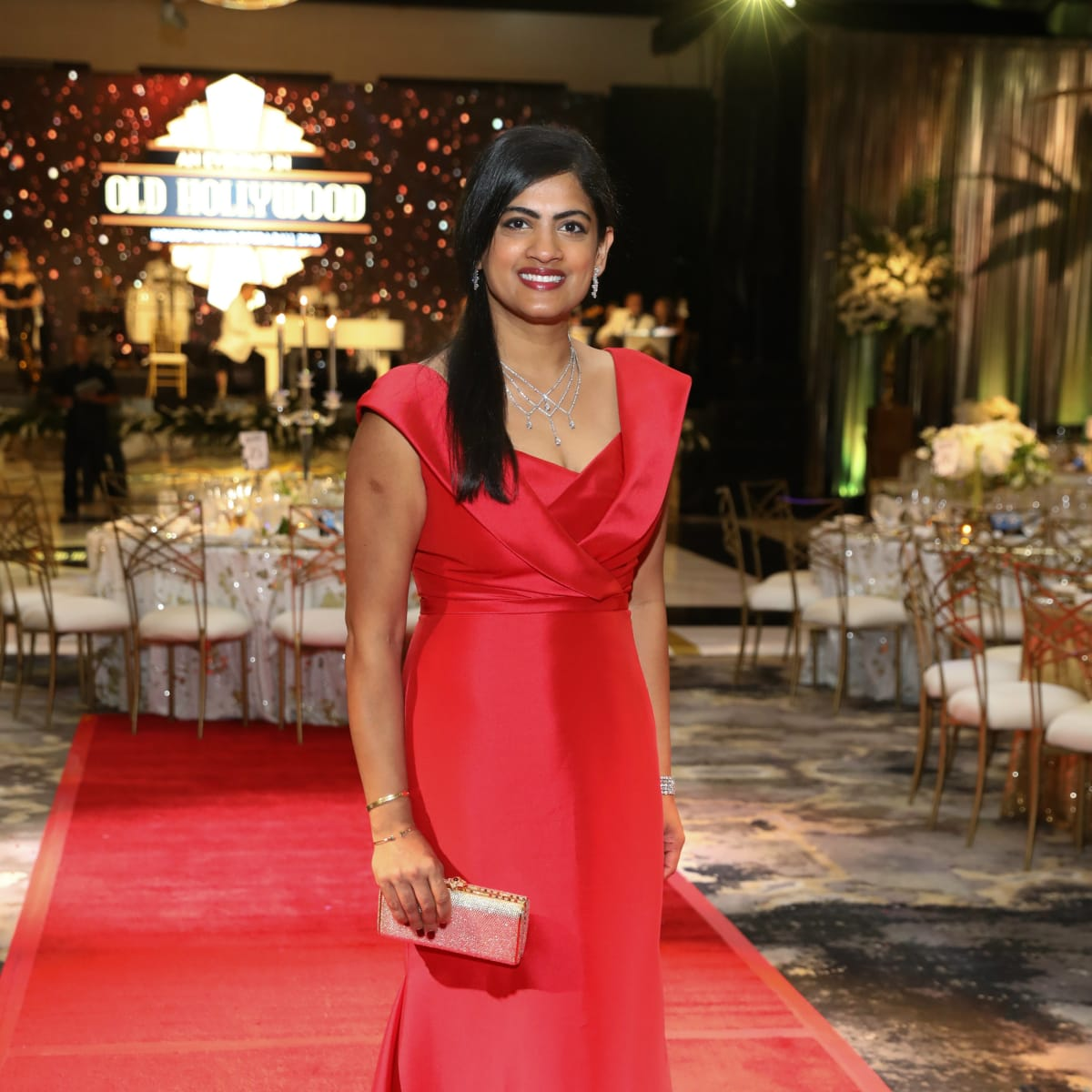 Opera Ball gowns Dr Ishwaria Subbiah in Pamella Roland