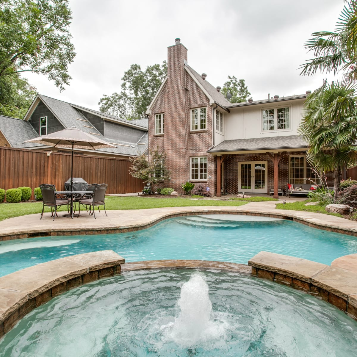 Backyard of 5723 Mercedes Ave. in Dallas