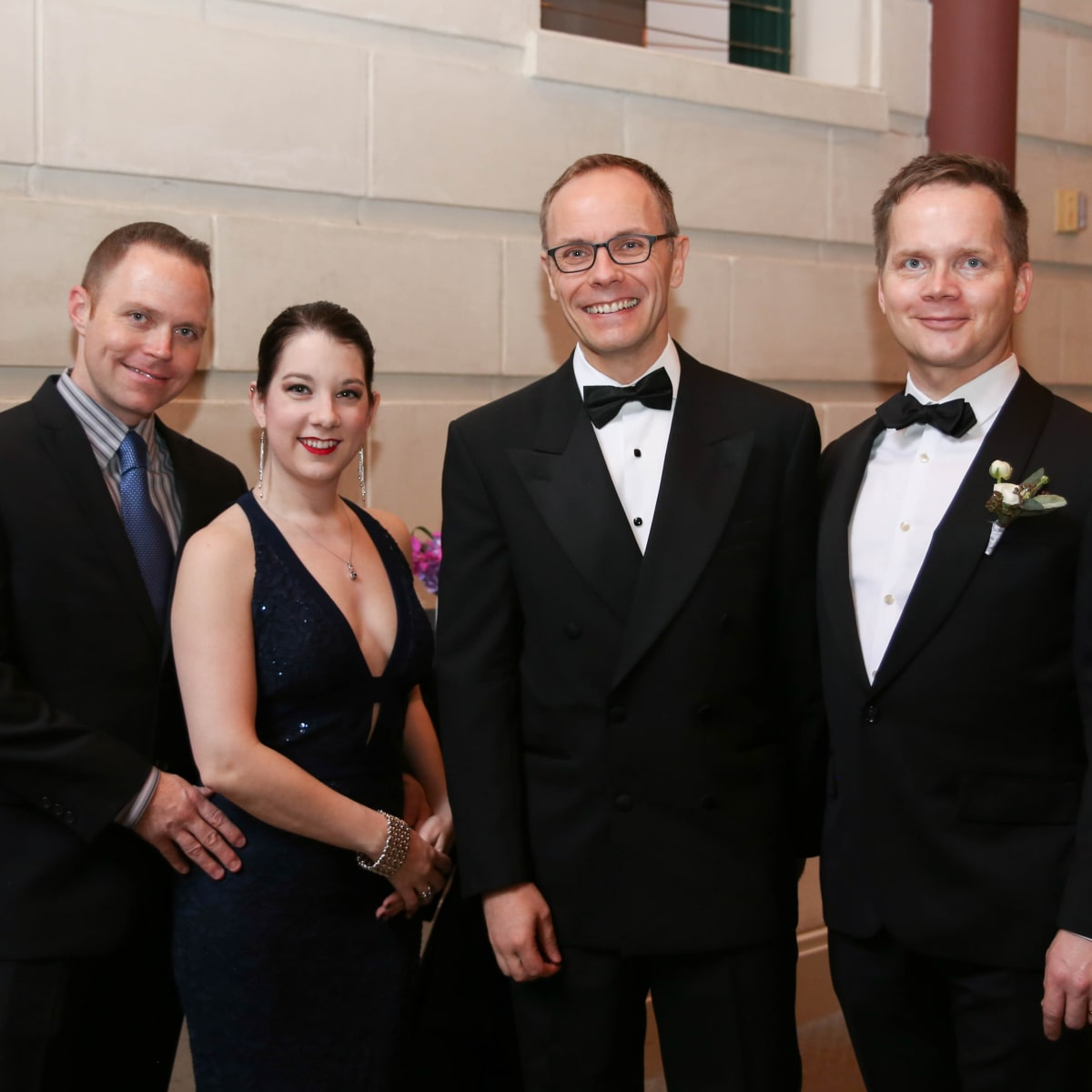 Fort Worth Opera Gala 2018, Kyle and Barbara Jordan, FWO Director Tuomas Hiltunen and Damon Clyde