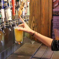 Little Woodrow's beers on tap Austin bar