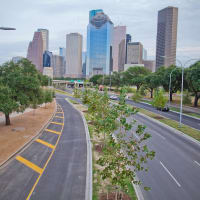 Allen Parkway improvements with trees