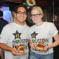 Tailgate Throwdown at Houston Texans Grille July 2013 Adam Supgul, Betty Mujica