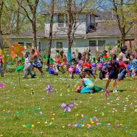 Easter egg drop in Fifth Ward at Lyons Avenue Renaissance Festival March 2015 Egg Hunt