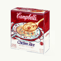 Campbell's Soup Box (Chicken Rice)     Andy Warhol (1928-1987)