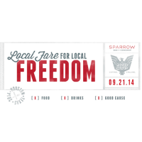 """""""Local Fare for Local Freedom"""" benefiting A 2nd Cup"""