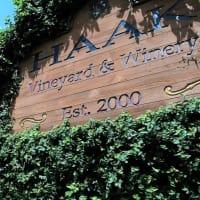 Haak Vineyards & Winery, sign