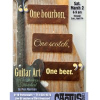Art opening reception: One Bourbon, One Scotch, One Beer- Guitar Art, No Strings Attached