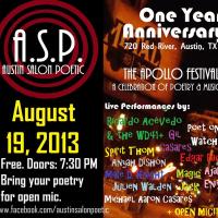 Austin Salon Poetic presents Apollo Festival flyer