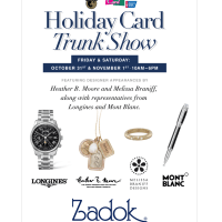 Holiday Shopping Card Trunk Show