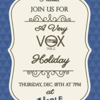 A Very Vox Holiday Dinner - VOX Table- December 2014